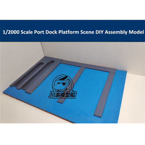 1/2000 Scale Port Dock Platform Scene DIY Assembly Model Kit CY711