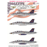 GALAXY G48001 G72001 for Hasegawa Model 1/48 1/72 Scale US F/A-18F VFA-11 Red Rippers Decal