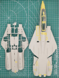 GALAXY D48004 1/48 Scale F-14A Tomcat Die-cut Flexible Mask for Tamiya 61114 Model Kit