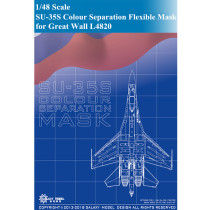 GALAXY D48005 1/48 Scale SU-35S Colour Separation Flexible Mask for Great Wall L4820 Model