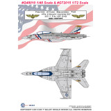 GALAXY G48010 G72015 1/48 1/72 Scale F/A-18F VFA-2 Bounty Hunters OEF CAG 2011 Decal