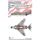 GALAXY Model G48012 G72012 1/48 1/72 Scale F-4J VF-102 Diamond Back 1973 Decal for Academy Model