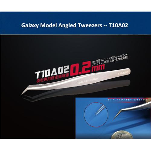 Galaxy Model T10A02 Angled Tweezers Model Accessory Building Tools