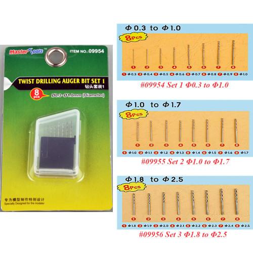 Trumpeter Master Tools 09954 09955 09956 Twist Drilling Auger Bit 8pcs/set