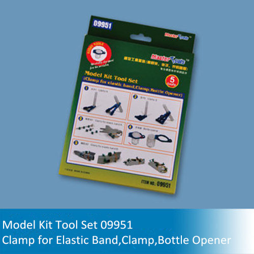Trumpeter Master Tools 09951 Model Kit Tool Set-Clamp/Clamp for Elastic Band/Bottle Opener