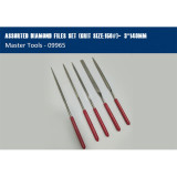 Master Tools Trumpeter 09965 Assorted Diamond Files Set Hobby Craft Model Tool(Grit Size:150#)-φ3*140m