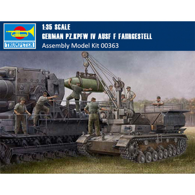 Trumpeter 00363 1/35 Scale German Pz.Kpfw IV Ausf F Fahrgestell Tank Military Plastic Assembly Model Kit
