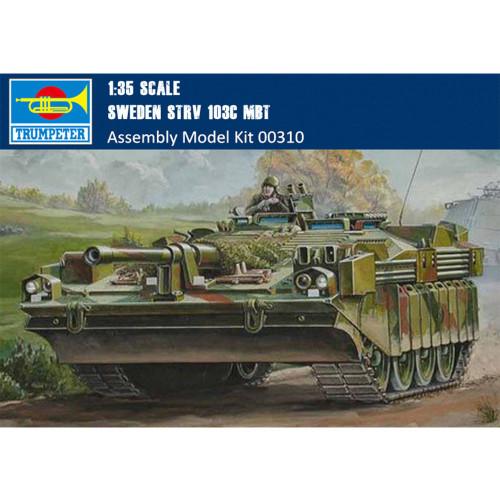 Trumpeter 00310 1/35 Scale Sweden Strv 103C MBT Main Battle Tank Military Assembly Model Kit