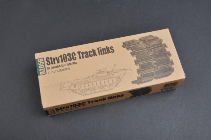 Trumpeter 02056 1/35 Scale Strv103C Workable Track links for Swedish Strv 103C MBT Tank Assembly Model