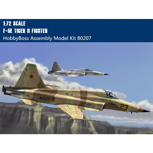 HobbyBoss 80207 1/72 Scale F-5E Tiger II Fighter Military Plastic Assembly Aircraft Model Kit