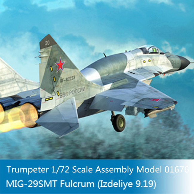 Trumpeter 01676 1/72 Scale Russian MIG-29SMT Fulcrum(Izdeliye 9.19) Fighter Military Aircraft Assembly Model Kit