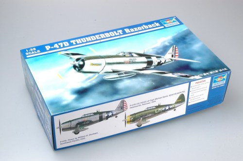 Trumpeter 02262 1/32 Scale P-47D Thunderbolt Razorback Fighter Military Aircraft Assembly Model Kit