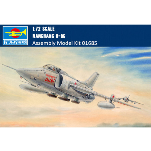 Trumpeter 01685 1/72 Scale Chinese Nanchang Q-5C Military Plastic Aircraft Assembly Model Kit