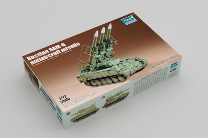 Trumpeter 07109 1/72 Scale Russian SAM-6 Antiaircraft Missile Military Plastic Assembly Model Kit