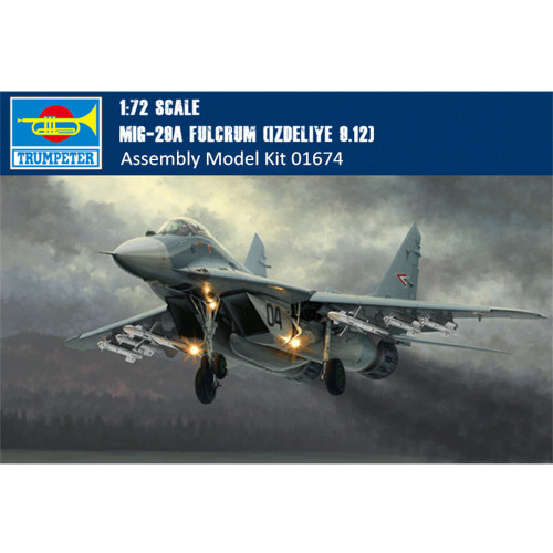 Trumpeter 01674 1/72 Scale Mikoyan MIG-29A Fulcrum Aircraft(Izdeliye 9.12) Military Plastic Assembly Model Kit