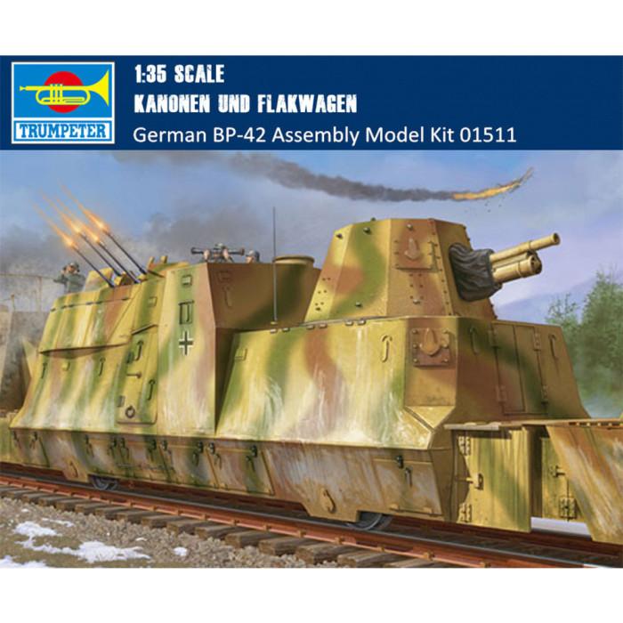 Trumpeter 01511 1/35 Scale German Kanonen und Flakwagen Military Plastic Assembly Model Kit