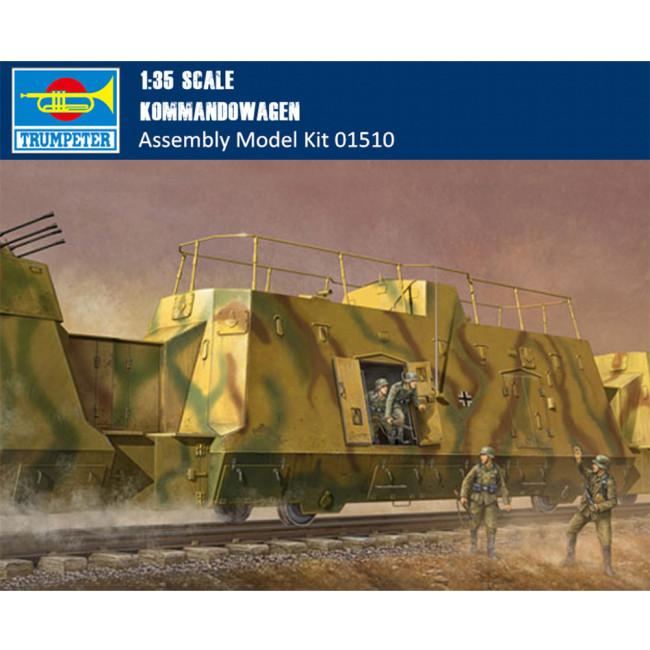Trumpeter 01510 1/35 Scale German Kommandowagen Military Plastic Assembly Model Kit
