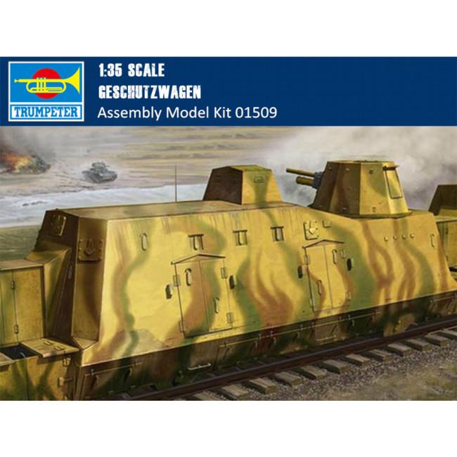Trumpeter 01509 1/35 Scale German Geschutzwagen Military Plastic Assembly Model Kit
