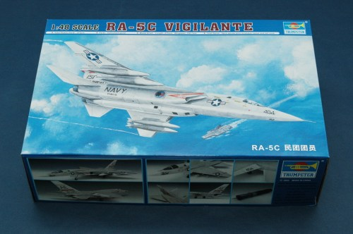 Trumpeter 02809 1/48 Scale RA-5C Vigilante Fighter Military Plastic Aircraft Assembly Model Kit