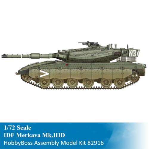 HobbyBoss 82916 1/72 Scale Israeli IDF Merkava Mk.IIID MBT Military Plastic Tank Assembly Model Kit