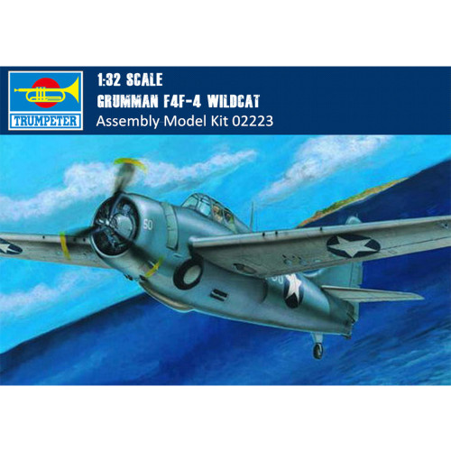Trumpeter 02223 1/32 Scale Grumman F4F-4 Wildcat Fighter Military Plastic Assembly Aircraft Model Kit