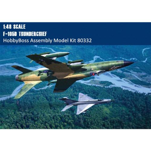 HobbyBoss 80332 1/48 Scale F-105D Thunderchief Fighter Military Plastic Assembly Model Kit