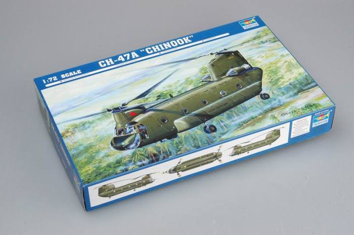 Trumpeter 01621 1/72 Scale CH-47A Chinook Medium-Lift Helicopter Military Plastic Aircraft Assembly Model Kit