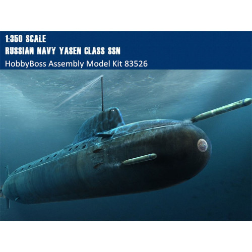HobbyBoss 83526 1/350 Scale Russian Navy Yasen Class SSN Attack Submarine Military Plastic Assembly Model Kit