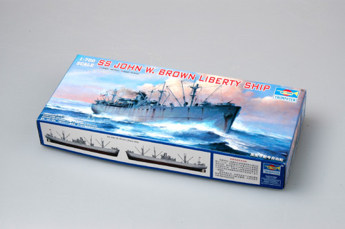 Trumpeter 05756 1/700 Scale SS John W. Brown Liberty Ship Military Plastic Assembly Model Kit