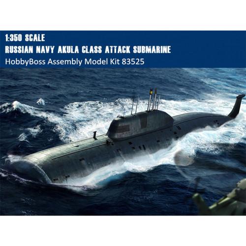 HobbyBoss 83525 1/350 Scale Russian Navy SSN Akula Class Attack Submarine Military Assembly Model Kit