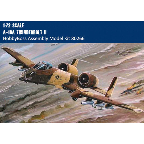 HobbyBoss 80266 1/72 Scale A-10A Thunderbolt II Fighter Military Plastic Aircraft Assembly Model Kit