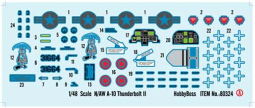 HobbyBoss 80324 1/48 Scale N/AW A-10 Thunderbolt II Fighter Military Plastic Aircraft Assembly Model Kit