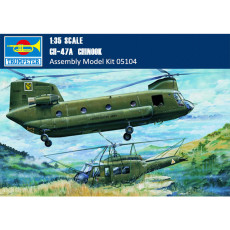 Trumpeter 05104 1/35 Scale CH-47A Chinook Helicopter Military Plastic Aircraft Assembly Model Kit