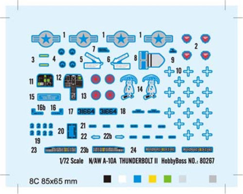 HobbyBoss 80267 1/72 Scale N/AW A-10A Thunderbolt II Fighter Military Plastic Aircraft Assembly Model Kit
