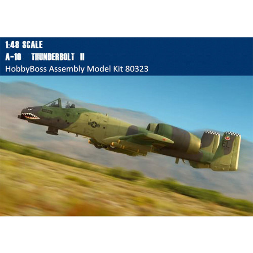HobbyBoss 80323 1/48 Scale A-10 Thunderbolt II Fighter Military Plastic Aircraft Assembly Model Kit