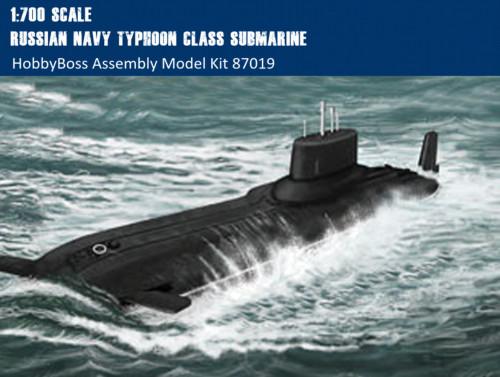 HobbyBoss 87019 1/700 Scale Russian Navy Typhoon Class Submarine Military Plastic Assembly Model Kit