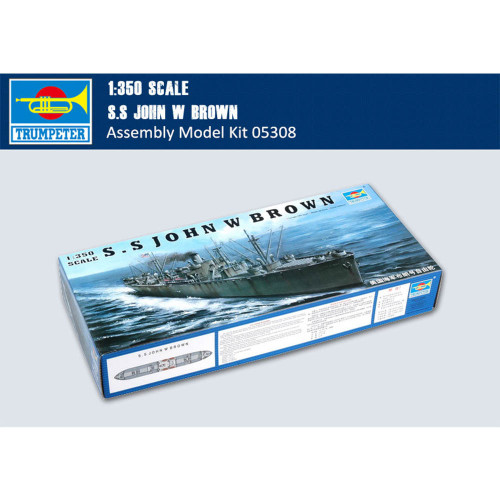 Trumpeter 05308 1/350 Scale SS John W. Brown Liberty Ship Military Plastic Assembly Model Kit
