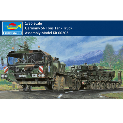 Trumpeter 00203 1/35 Scale Germany Faun SLT-56 Tank Truck Transporter Military Plastic Assembly Model Kit