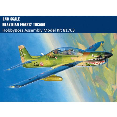 HobbyBoss 81763 1/48 Scale Brazilian EMB312 Tucano Military Plastic Aircraft Assembly Model Kit