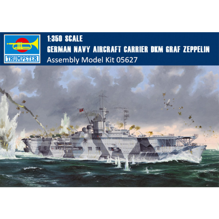 Trumpeter 05627 1/350 Scale German Navy Aircraft Carrier DKM Graf Zeppelin Military Plastic Assembly Model Kit