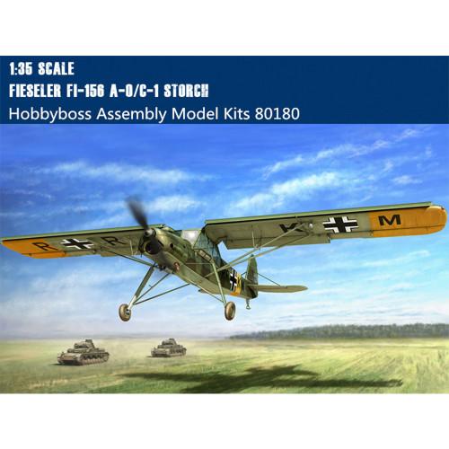 HobbyBoss 80180 1/35 Scale German Fieseler Fi156 A-0/C-1 Storch(Stork) Scout Aircraft Assembly Model kit