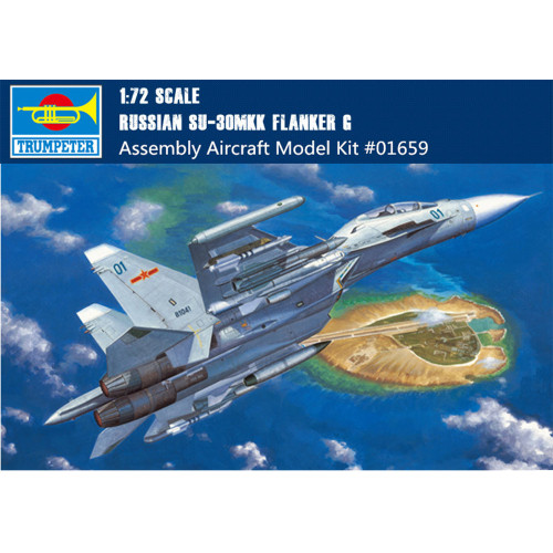 Trumpeter 01659 1/72 Scale Russian Su-30MKK Flanker G Fighter Military Plastic Aircraft Assembly Model Kit