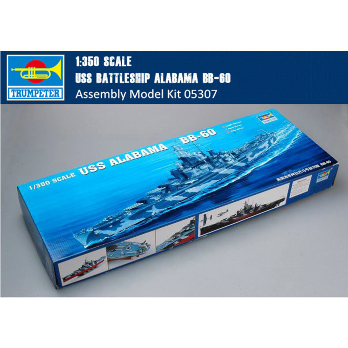 Trumpeter 05307 1/350 Scale USS Battleship Alabama BB-60 Military Plastic Assembly Model Kit