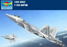 Trumpeter 01317 1/144 Scale USA F-22A Raptor Fighter Plastic Aircraft Assembly Military Model Kit