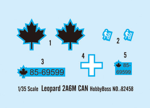 HobbyBoss 82458 1/35 Scale Canada Leopard 2A6M Military Plastic Tank Assembly Model Kit