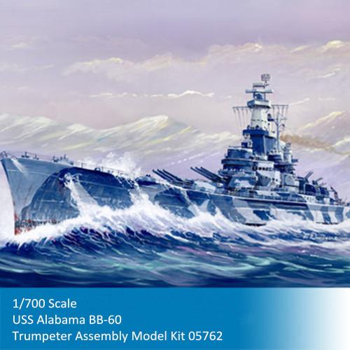 Trumpeter 05762 1/700 Scale USS Battleship Alabama BB-60 Military Plastic Assembly Model Kit