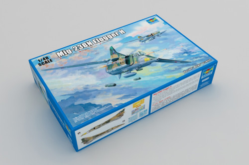 Trumpeter 05801 1/48 Scale Mig-23BN Flogger H Bomber Military Plastic Aircraft Assembly Model Kit