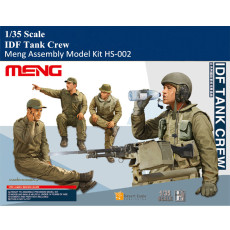 Meng HS-002 1/35 Scale IDF Tank Crew Military Plastic Soldier Figures Assembly Model Kit