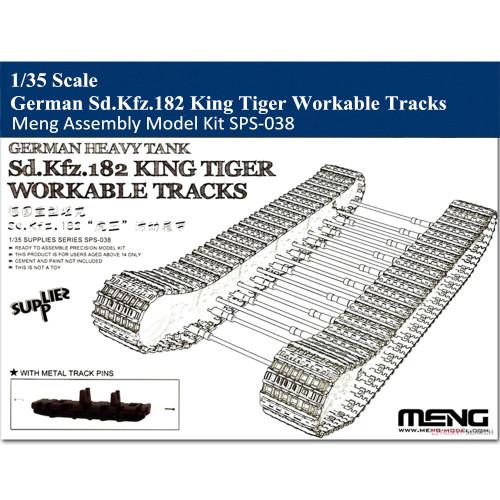 Meng SPS-038 1/35 Scale German Sd.Kfz.182 King Tiger Workable Tracks Assembly Model Kit