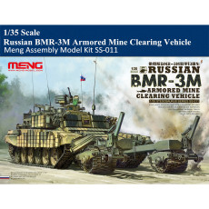 Meng SS-011 1/35 Scale Russian BMR-3M Armored Mine Clearing Vehicle Military Plastic Assembly Model Kit